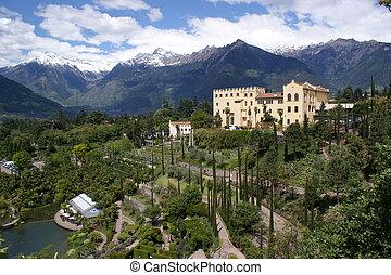 The Botanic Garden of Merano - View of the Botanic Garden of...
