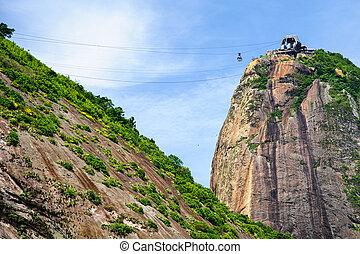Sugarloaf Mountain (in Portuguese, Pão de Açúcar), is a peak...