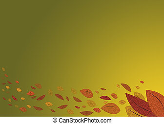 An autumn background with fall leaves