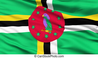 Waving national flag of Dominica - Animation of the full...