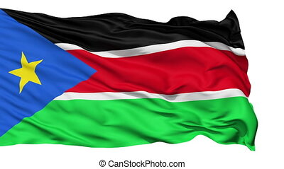 Waving national flag of South Sudan
