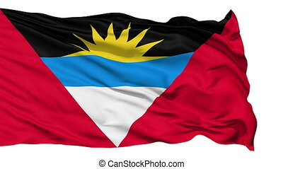 Waving national flag of Antigua and - Animation of the full...