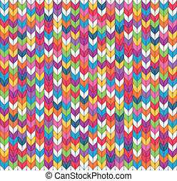 Seamless knitted background - Multicolor seamless knitted...
