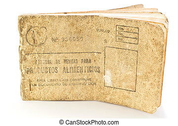 Cuban rationing card, libreta de la bodega - ration card...