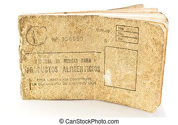 Cuban rationing card, libreta de la bodega - ration card...