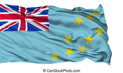 Waving national flag of Tuvalu - Animation of the full...
