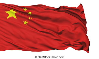 Waving national flag of China - Animation of the full...