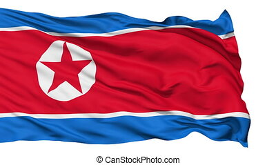 Waving national flag of North Korea - Animation of the full...