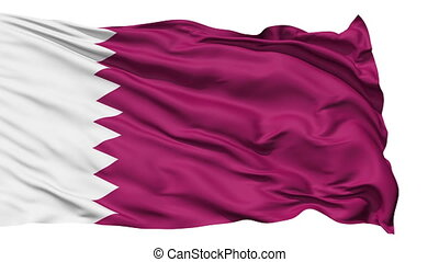 Waving national flag of Qatar - Animation of the full...