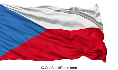 Waving national flag of Czech - Animation of the full...
