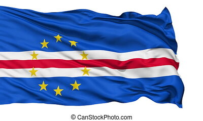 Waving national flag of Cape Verde