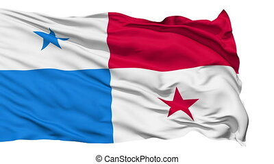 Waving national flag of Panama