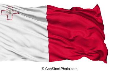 Waving national flag of Malta - Animation of the full...