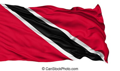 Waving national flag of Trinidad and Tabago - Animation of...