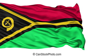 Waving national flag of Vanuatu - Animation of the full...