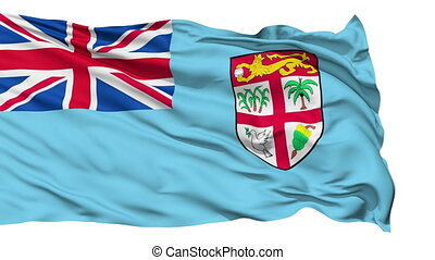 Waving national flag of Fiji - Animation of the full...
