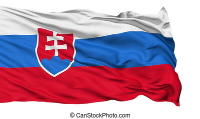 Waving national flag of Slovakia - Animation of the full...