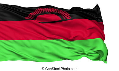 Waving national flag of Malawi - Animation of the full...