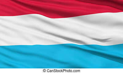 Waving national flag of Luxembourg - Closeup cropped view of...