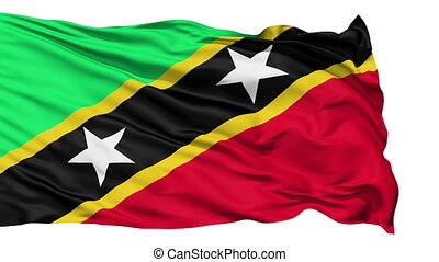 Waving national flag of Saint Kitts