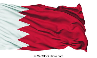 Waving national flag of Bahrain - Animation of the full...