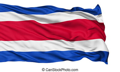 Waving national flag of Costarica - Animation of the full...