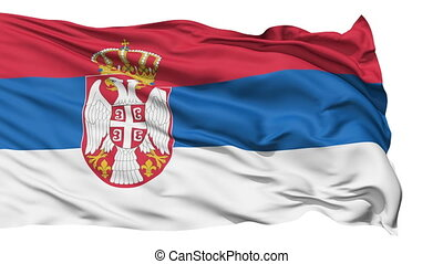 Waving national flag of Serbia