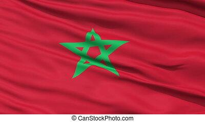 Waving national flag of Morocco