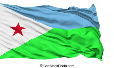 Waving national flag of Djibouti - Animation of the full...
