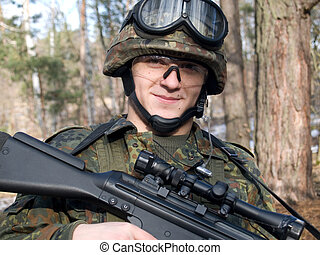 Bundeswehr soldier - The portrait of the germany soldier...