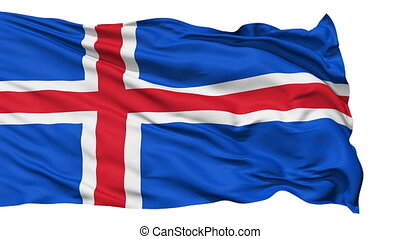 Waving national flag of Iceland - Animation of the full...