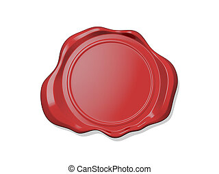 Copy Space Wax Seal - Wax seal icon on white background.