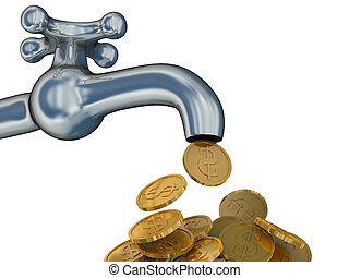Financial stream 3D image The isolated illustration