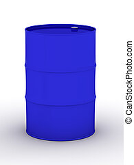 blue vat on a white background. 3D image.