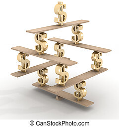 Financial balance Stable equilibrium 3D image