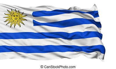 Waving national flag of Uruguay - Animation of the full...