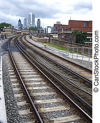 london overground - view of the city of london in the...