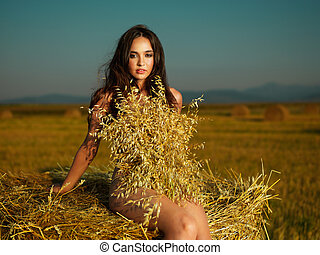 outdoors portrait of beautiful, young woman - outdoors...