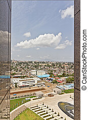 Aerial view of Addis Ababa - Aerial view of the city of...