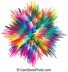 Paint splash - Vector splash illustrating the concept of...