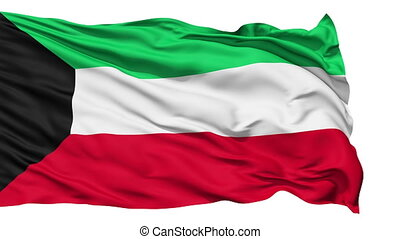 Waving national flag of Kuwait - Animation of the full...