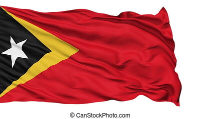 Waving national flag of East Timor