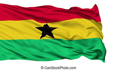 Waving national flag of Ghana - Animation of the full...