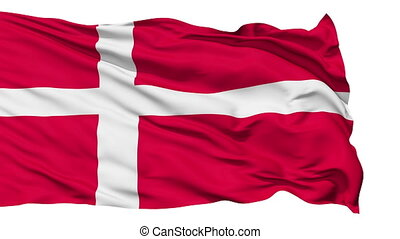 Waving national flag of Denmark