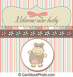 childish baby shower card
