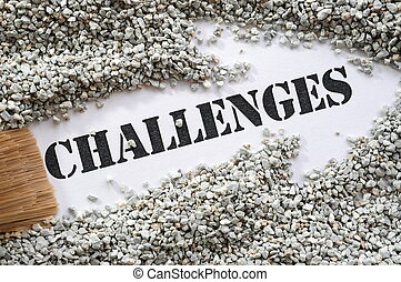 Challenges -- Treasure Word Series with arrow sign