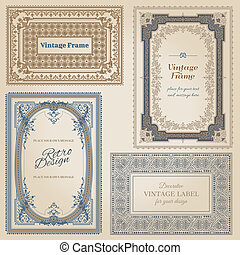 Vintage frames and design elements - with place for your...