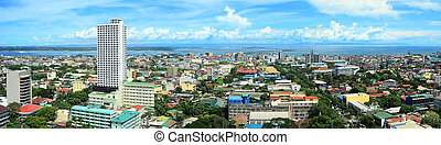 Metro Cebu - Panorama of Cebu city. Cebu is the Philippines...