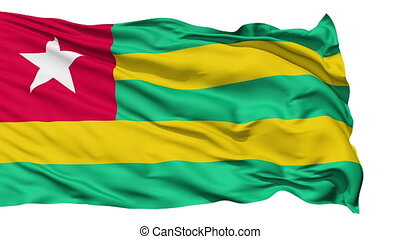 Waving national flag of Togo - Animation of the full...