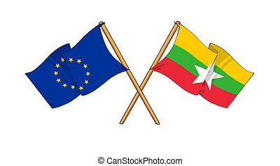 European Union and Burma alliance and friendship -...